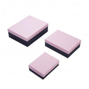 Набор 3 шт - Черный/Розовый