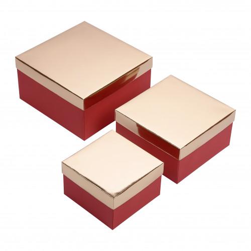 Набор 3 шт - Золото/Красный