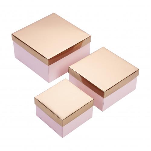 Набор 3 шт - Золото/Розовый