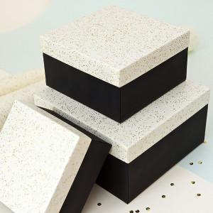 Набор 3 шт - Черно - Молочный с блестками