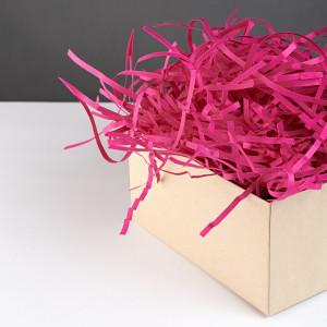 Цветной Бумажный Наполнитель для Коробок - Малина