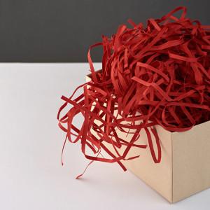 Цветной Бумажный Наполнитель для Коробок - Красный