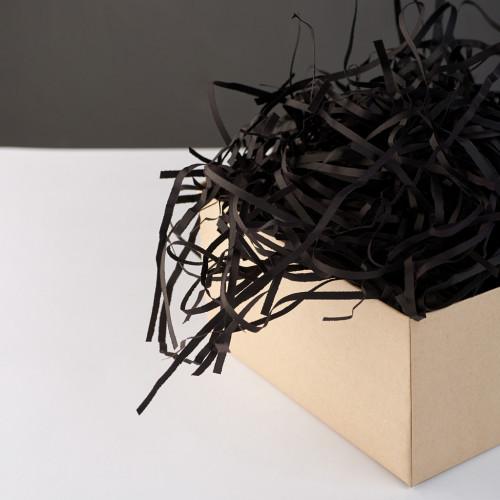 Цветной Бумажный Наполнитель для Коробок - Черный