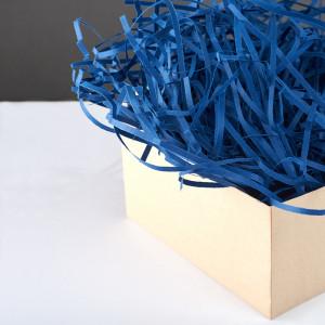Кольоровий Паперовий Наповнювач для Коробок - Синій